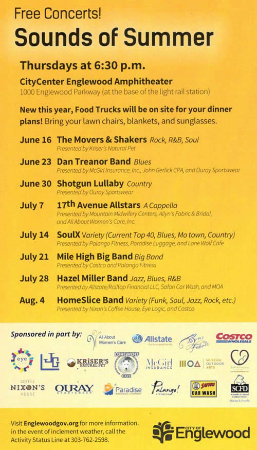 the sounds of summer, a concert series